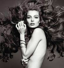 carola remer with amazing hairstyles by nicolas jurnjack for the march issue of spanish harper s bazaar