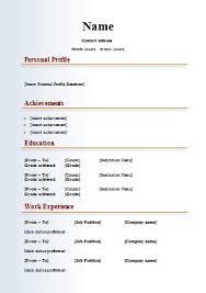 Sample Resume Format New Free Resume Templates Word Free Sample