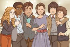 Group photo from the Snow Ball | Max Mayfield, Lucas Sinclair, Dustin  Henderson, Eleven, Mike W… | Stranger things max, Stranger things quote,  Stranger things funny