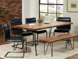 Hairpin dining table Hairpin Leg Hairpin Dining Table Dining Table Hairpin Legs Live Edge And Dark Grey Chairs Hairpin Hairpin Dining Table Homesquareinfo Hairpin Dining Table Dining Room Table And Bench Hairpin Dining Room