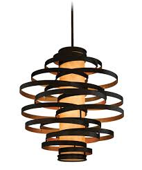 large pendant lighting. Shown In Bronze With Gold Leaf Finish And Caramel Ice Glass Large Pendant Lighting D