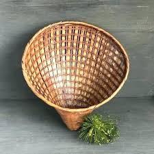 wicker wall decor wicker wall decor vintage wicker wall pocket basket woven wicker shell rattan wall