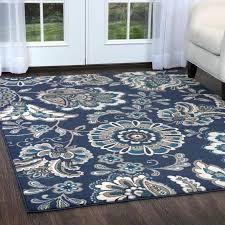 blue area rug luxury modern trellis wool gothic rugs 2