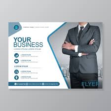 Flat Design Flyer Business Cover A4 Template And Flat Icon For A Report And