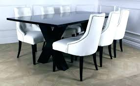 white leather dining room chairs ideas intended for plans 5