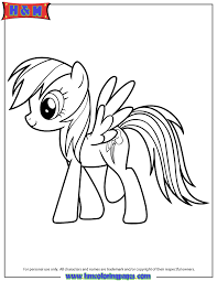 6 My Little Pony Characters Coloring Pages Printable My Little Pony