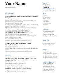 public relations resume example junior level resume example sample resume for entry level