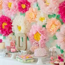 Tissue Paper Flower Centerpieces Us 3 45 11 Off Set Of 3 Tissue Paper Pom Pom Flower Stamen Chrysanth Flower Centerpiece Tea Party Birthday Wedding Garden Backyard Decor In Party