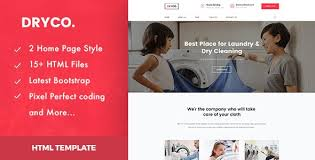 Html Website Templates Cool Dry Cleaning HTML Website Templates from ThemeForest