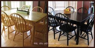 painted dining room table ideas painting diy tables chairs black alternative though