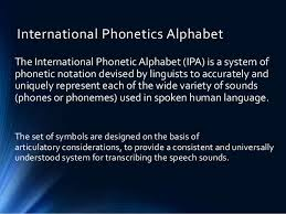 International phonetic alphabet (ipa) symbols used. Description Of Speech Sounds