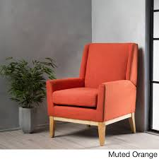 aurla mid century fabric accent chair by christopher knight home free today com 19621986