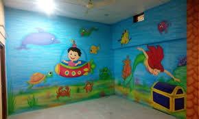 nursery classroom wall painting