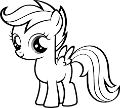 Small Picture Free Coloring Pages Of Blank Pony My little pony 4th birthday