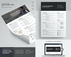 Clean Modern Resume Word Template Set Best Photo Gallery Websites ...
