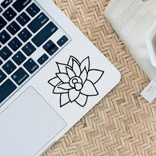 Lotus Flower Color Chart Lotus Flower Decal Wall Sticker Home Decor Wall Art Wall Decoration
