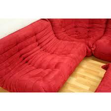 modern red fabric modular sectional sofa chair ottoman set