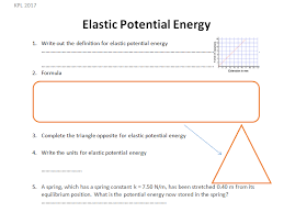 gcse physics worksheet elastic potential energy definition formula q a by kpryoyd teaching resources tes