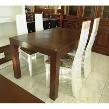 8617 very nice dark wooden dining table 4 chairs