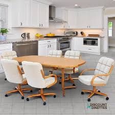 Chromcraft Furniture T824 456 And C117 936 Caster Dining Set