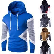 <b>Hot Sale New</b> Mens <b>Fashion</b> Sweatshirt Hit Color Men Hoodies Hip ...
