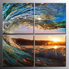 Small Picture Framed Sea Wave Photo Canvas Art Print Home Decor Canvas Wall Art
