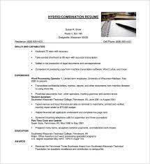 Hybrid Resume Template Word 62 Images Download Resume Format