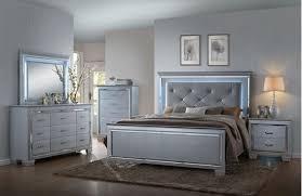Crown Mark B7100 K Set CrystalcFontaine 4 Pieces King Bedroom Set