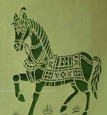 Sanjhi Art by Artisan Ashutosh Verma from Uttar Pradesh, India