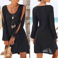 KANCOOLD dress <b>Womens Ladies</b> O Neck Short Sleeve Lace Mini ...