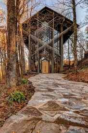 Pathway to Thorncrown Chapel in Autumn Art Print by Gregory Ballos