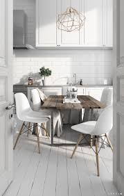 scandinavian design furniture ideas wooden chair. Scandinavian Kitchens: Ideas \u0026 Inspiration Distressed Wooden Table, Modern White Chairs, Kitchen With Subway Tiles Design Furniture Chair I