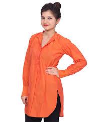 Apple Cut Kurti Design Chhipa Women Apple Cut Mangalagiri Orange Kurti Buy Chhipa