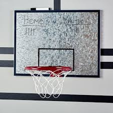 galvanized basketball hoop and dry erase board