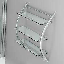 bathroom glass wall mounted shelf unit shelves storage organiser shelves rack
