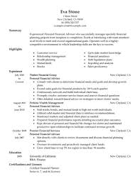 Career Advisor Resume Example Resume Template Financial Advisor Resume Example Free Career 47