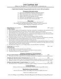 Sample Resume For Housekeeping Job Job And Resume Template