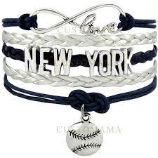 <b>Wholesale</b>-(<b>10 PCS</b>/<b>Lot</b>) Infinity Love <b>New York</b> Baseball Charm