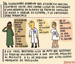 Resultado de imagen de el medico que le atiende habla catalan