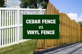 Vinyl fence Foot Amko Fence Company Cedar Fence Or Vinyl Fence