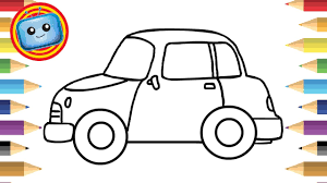 how to draw a car for kids simple drawing game animation colouring book