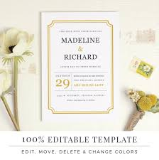 Invite Templates For Word Custom Printable Wedding Invitation Template Word Or Pages MAC Or Etsy