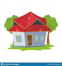 New Home Cartoon Images Cartoon Sweet Home Cute And New Design Stock Vector