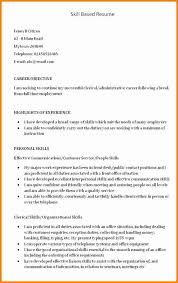 Skill Set List For Resumes Resume Examples Resume Template