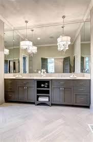 bathroom vanity pendant lighting. Bathroom , The Advantages Of Double Vanities : With Large Mirror And Vanity Pendant Lighting W