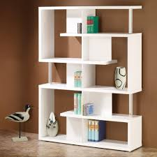 contemporary library furniture. Image Is Loading Coaster-Bookshelf-Modern-White-Finish-Home-Office-Bookcase- Contemporary Library Furniture E