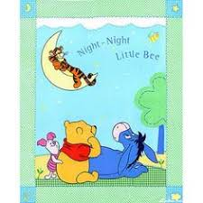 Australian Baby Animals Cot Quilt Kit, Pink | Fabric panels at ... & Pooh Bear and Friends Night Night Little Bee Cot Quilt Fabric Panel, 36