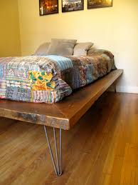 New platform bed! It features hairpin legs and a variety of old growth doug  fir that was salvaged out of a restaurant and juice factory in Tustin, CA.