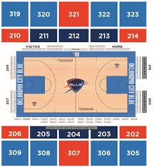 Cox Convention Center Seating Chart Blue Fan Guide Oklahoma City Blue