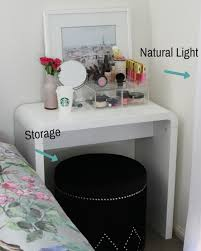 vanity table for small space. makeup vanity in your room diy table for small space t